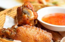 Fried fish sauce chicken wings