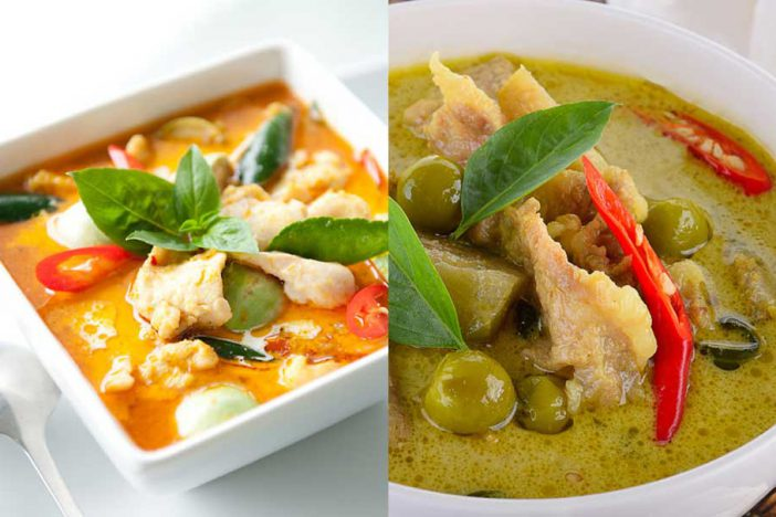 Red cuury VS Green curry