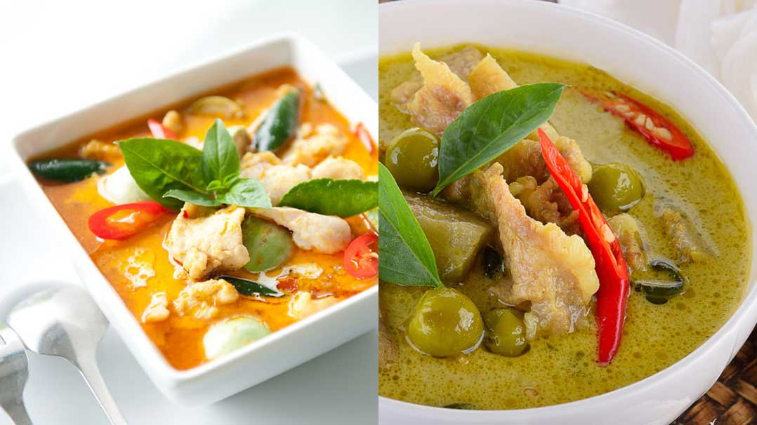 are red curry and green curry the same thaifoodz