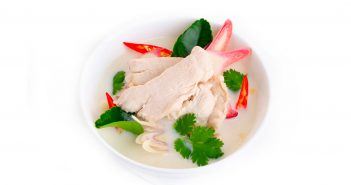 Tom kha kai or chicken coconut soup