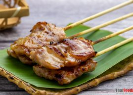 Moo ping (grilled pork skewers) recipe