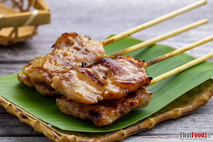 Moo ping (grilled pork skewers)